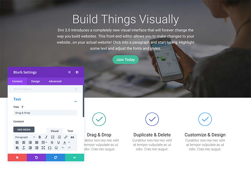 using-visual-builder