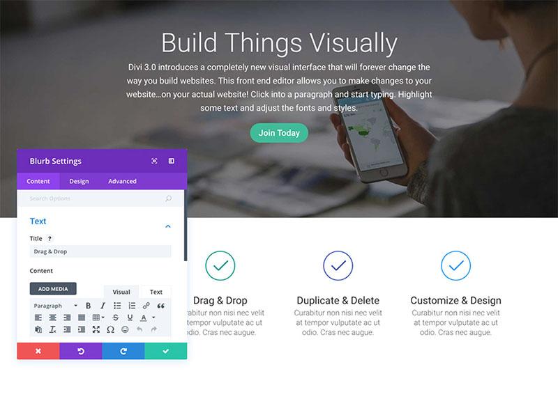 using-visual-builder